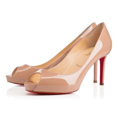Christian Louboutin no matter Nude 85mm Patent Leather Womens High Platforms