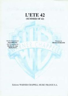 Summer of '42 - Michel Legrand free piano sheet music and