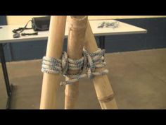 How to Lash a Bamboo Tripod by TIAT - YouTube