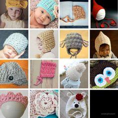 free crochet patterns, baby hats