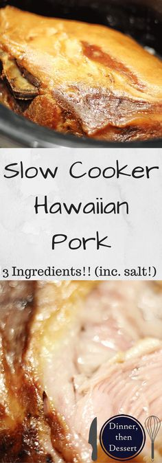 Three ingredients, 24 hands-off hours and you have a deliciously crispy, soft, tender Hawaiian Luau Pork that will make you wonder why you every made pork shoulder any other way before!