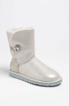 Metallic white Ugg Australia boots with bling!