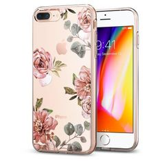 Husa iPhone 7 Plus Spigen Liquid Crystal Aquarelle, trandafir - TotalMobil Iphone 8 Plus, New Iphone 8, Pink Iphone, Iphone Cases Cute, Diy Phone Case, Christian Bale, Iphone 7 Coque, Apple Iphone, Tumblr Iphone