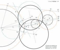 Circunferencias tangentes a tres circunferencias dadas. Problema de Apolonio · Dibujo Técnico Drawing Techniques, Dots