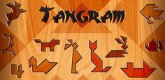 Der findes mange forskellige spil i Tangram style, hvor du skal få dine brikker til at passe ind i figurerne. Denne er gratis til Google play https://play.google.com/store/apps/details?id=com.magmamobile.game.Tangram=da og denne kan du finde i Appstore gratis https://itunes.apple.com/us/app/tangram!/id409914201?mt=8. Men prøv at søge Tangram - der kommer hele tiden nye.