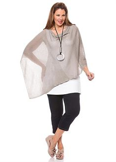 Big Sizes Womens Clothing | Clothes for Larger Size Women - FABLED FIELDS PONCHO - TS14