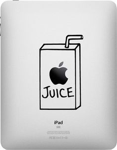 Apple Juice Box Ipad Decal for Ipad and Ipad 2