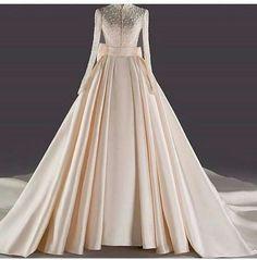 Muslim Wedding Gown, Thai Wedding Dress, Muslimah Wedding Dress, Indian Wedding Gowns, Muslim Wedding Dresses, Wedding Dress Sleeves, Dream Wedding Dresses, Designer Wedding Dresses, Bridal Gowns