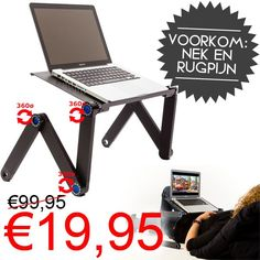Verstelbare Laptoptafel voor €19,95! www.euro2deal.nl