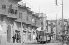 Street car powered by electric - #Aleppo #Syria in 1950's