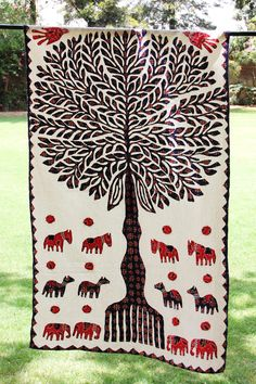 Blue Tree of Life Indian Ethnic Hippie Wall Tapestry
