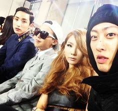 G-Dragon, CL, and Lee Soo Hyuk attend 'Seoul Fashion Week' together