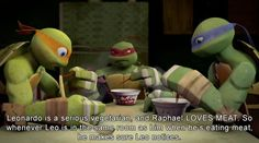 HEADCANNONS AWAIT<<< I would punch Raph if I was Leo.