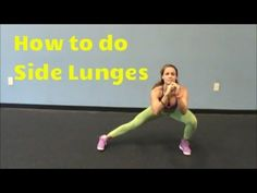 How to do Side Lunges/Leg Workout by Vicky Wake Up Workout, Monday Workout, Best Workout Plan, Butt Workout, Deep Lunges, Side Lunges, Lunge Challenge, Workout Challenge, Lunges With Weights