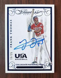 2016 Flawless Frank Thomas Auto Autograph Signed Baseball White Sox USA HOF /25 | eBay