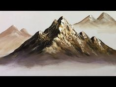 Paint Mountains With Acrylic Paints - lesson 1 - YouTube
