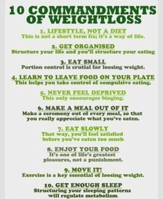 The 10 commandments of #weightloss. Mind these if you're serious about shedding lbs... especially #1! #diet #loseweight #fitfam #lean