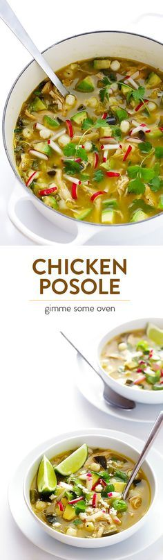 This Chicken Posole Verde is a simple Mexican soup, tossed with lots of fresh and delicious ingredients!