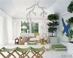Crisp white sunroom