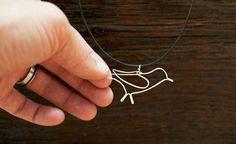 Made by Joel Silver Bird Necklace Wire Wrapped Jewelry, Metal Jewelry, Beaded Jewelry, Handmade Jewelry, Jewlery, Jewellery Earrings, Women's Jewelry, Gold Jewellery, Pendant Jewelry