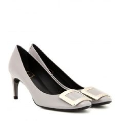 ROGER VIVIER Belle De Nuit Patent Leather Pumps grey
