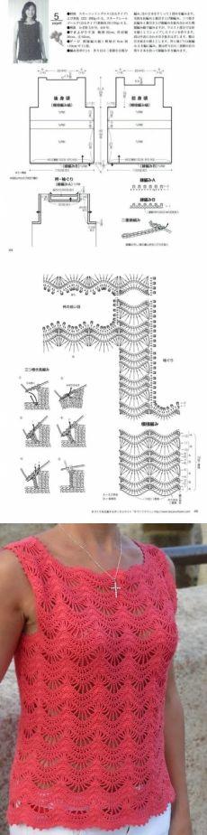 padrão de esquema de crochet openwork da revista japonesa |  Data - os padrões de circuitos