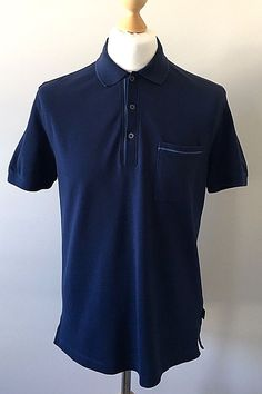 Hugo Boss Men's Blue Polo Tee Shirt – Medium #HUGOBOSS #PoloShirts