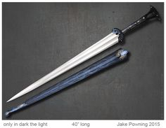 Only in Dark the Light bronze sword by Jake Powning