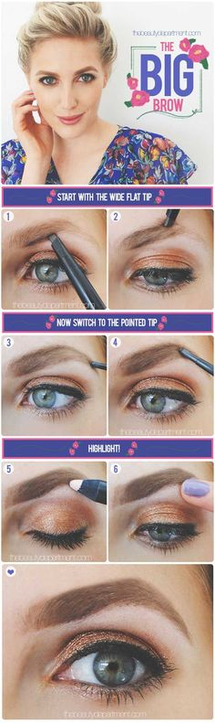 Brow Shaping Tutorials - The Bold & Beautiful - Awesome Makeup Tips for How To Get Beautiful Arches, Amazing Eye Looks and Perfect Eyebrows - Make Up Products and Beauty Tricks for All Different Hair Colors along with Guides for Different Eyeshadows - thegoddess.com/brow-shaping-tutorials