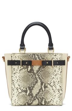 Vince Camuto 'Large Lance' Python Embossed Leather Satchel available at #Nordstrom