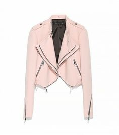 @Who What Wear - Now that you have closet stocked with swingy tops and dresses, you'll need an equally figure-flattering jacket. This cropped version is ideal, as it will add structure to your top, and the waistband-free bottom will flow over your mid-section. Zara Cropped Jacket With Zips ($159)