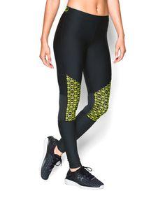 Another great find on #zulily! Black & Green Geometric HeatGear® Leggings #zulilyfinds
