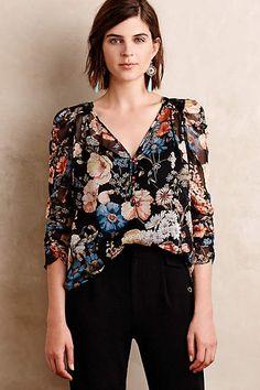 Foral Print Silk Top - love this!
