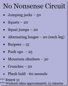Awesome cardio workout you can do anywhere!! 3rd round is killer but that's where you get results. 3 rounds...no excuses