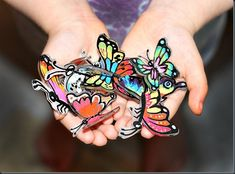 Butterfly Shrink Dinks!! Awesome Garden Art for the New Home Owner!!! Shrink Dink Paper?! = Awesome.