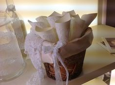 umbria wedding decorations , conetti per il riso