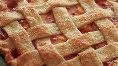 Chef John's recipe for lattice-top peach pie is the perfect summer dessert.