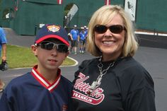 Wearing my baseball photo pendant at Cooperstown!!!   www.sassyandsouthern.com to order YOUR baseball mom photo pendant!