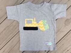 Boy's St. Patrick's Day Shirt with Construction Truck and Shamrocks on Etsy, $18.50
