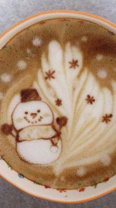 Snowman #Latte Art Christmas feels :)
