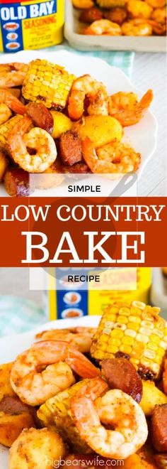 This Low Country Bake has all of the classic flavors of a Low Country Boil but. - This Low Country Bake has all of the classic flavors of a Low Country Boil but it's baked in th - Seafood Boil Party, Seafood Boil Recipes, Seafood Bake, Chowder Recipes, Cajun Recipes, Seafood Dishes, Cooking Recipes, Seafood Broil, Baked Shrimp Recipes