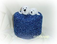 Klopapierhüte & -verstecker - Klopapierhut Robben Robbe Toilettenpapierhut - ein Designerstück von contra0815 bei DaWanda