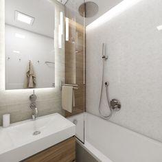 Elegantní koupelna LILY - Pohled od vstupu Flat Interior, New Room, Small Apartments, Bathroom Furniture, Diy Bedroom Decor, Home Decor, Bathroom Inspiration, Bathtub, Teak