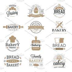 Bakery badges and logo icons thin modern style vector collection set. Retro bakery labels, logos and badges icons. Bakery badges design elements isolated on white background Illustration , Business Brochure, Business Card Logo, Logo Boulangerie, Logo Patisserie, Inspiration Logo Design, Baking Logo, Kitchen Logo, Badge Icon, Bakery Logo Design