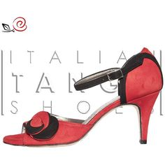 Woman tango shoes in red and black suede designed by an our customer :-) now available at http://www.italiantangoshoes.com/shop/en/women/346-rosa-garnet.html