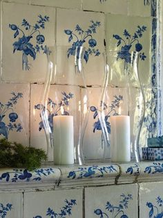 Use chuky candles inside hurricanes for longer life and new look