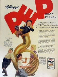 Pep Bran Flakes Cereal ad featuring the Little Rascals from Retro Advertising, Vintage Advertisements, Vintage Ads, Vintage Food, Breakfast Cereal, Breakfast Time, Fortified Cereals, Retro Humor, Retro Funny