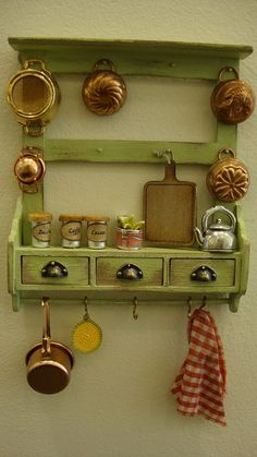 miniature panel box with drawers kitchen by bagusitaly on Etsy, €40.00