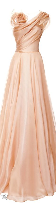 Marchesa ● Resort 2015, Silk Gazaar Draped Bodice Gown. Absolutely beautiful…