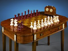 Elegant and refined, this Jaques & Sons chess set was crafted for General Joaquin Amarro ~ M.S. Rau Antiques